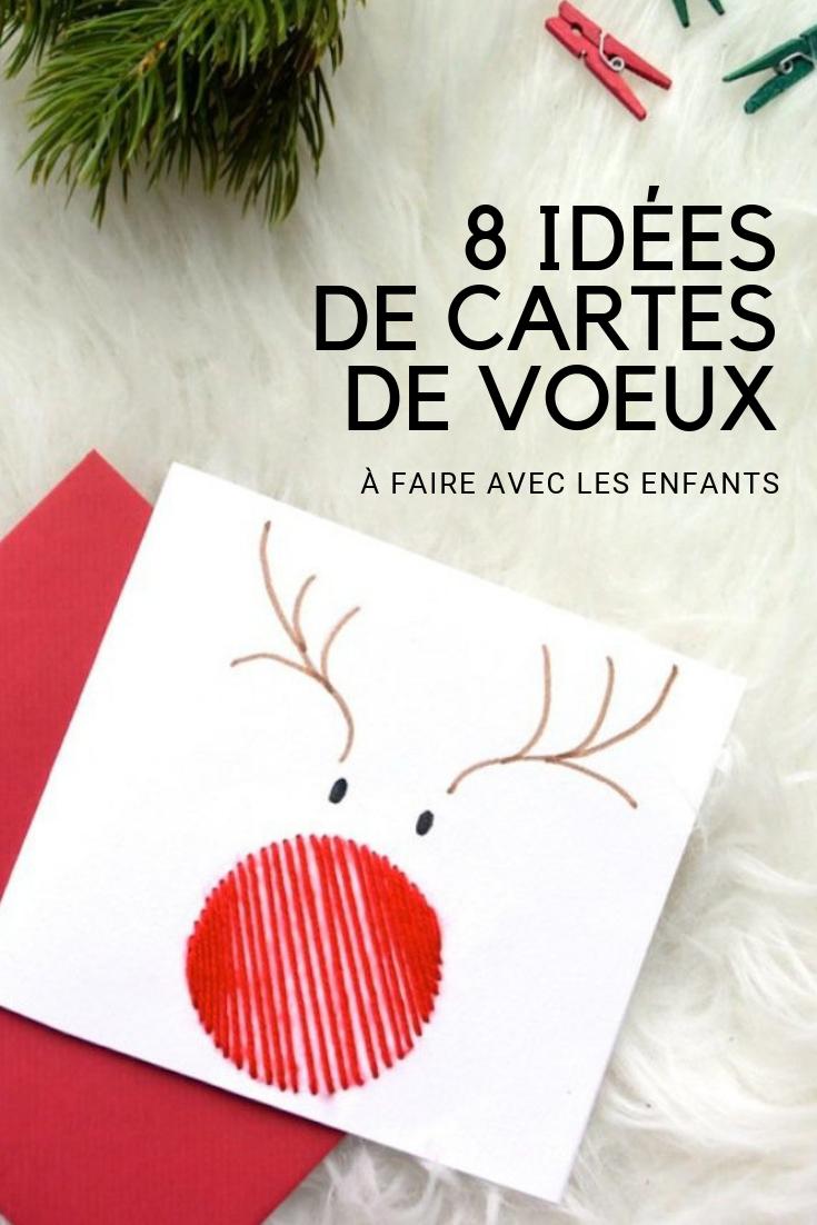 8 idées de cartes de vœux à faire fabriquer par les enfants