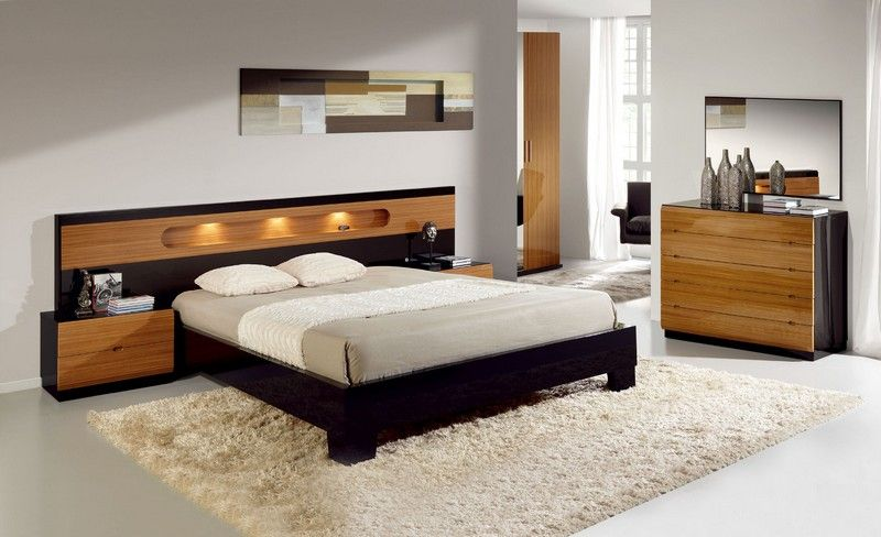 Awesome Comfortable Bedroom Designs with Fancy Headboards from Evinco  Designer   Chic White Bedroom Design With Wooden Frame Bed And Furniture. You can buy furniture of your choice without wasting your time
