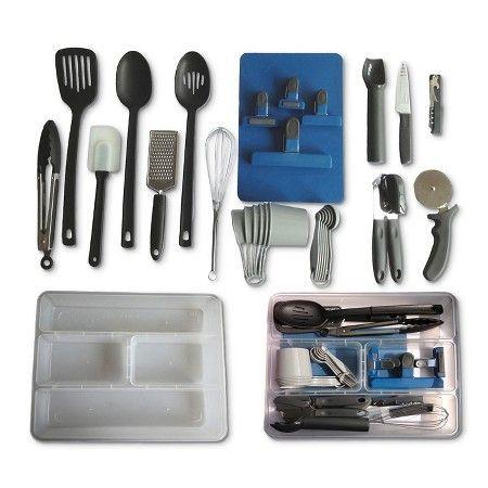 30 Piece Kitchen Utensil Set Room Essentials Target Kitchen Utensil Set Kitchen Utensils Utensil Set