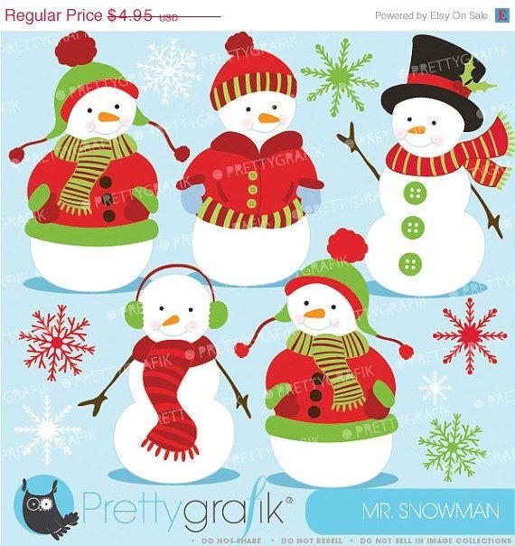 #christmas clipart #scrapbook #prettygrafik #snowman