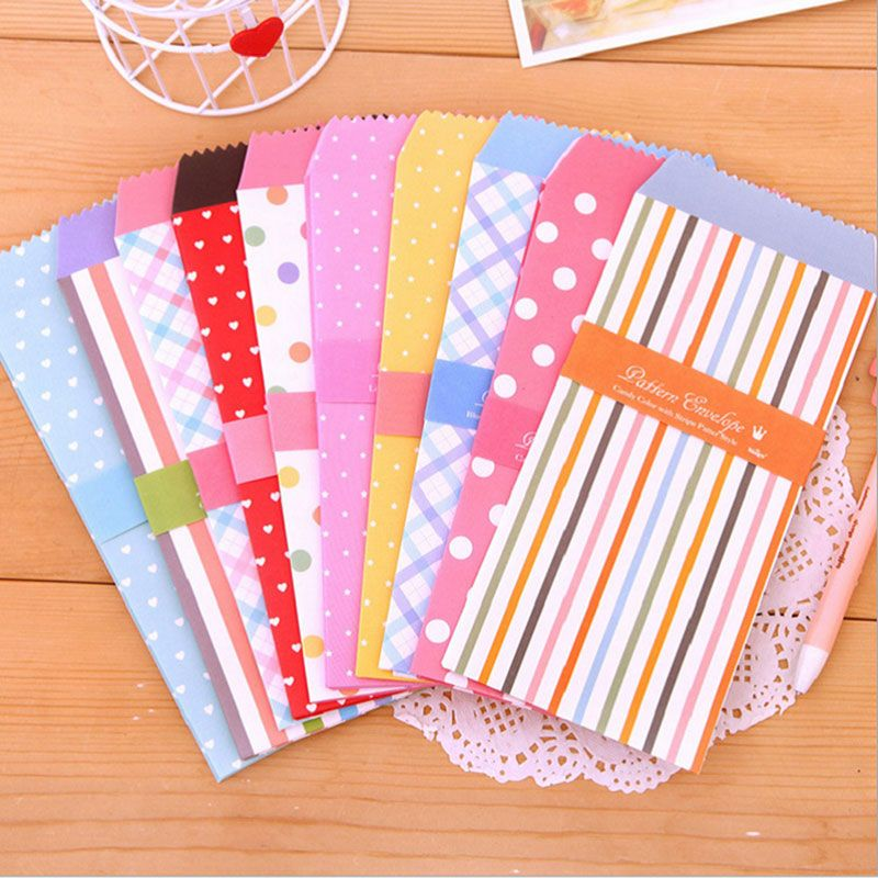 5pcs lot Candy colored envelopes small envelope writing paper - colored writing paper