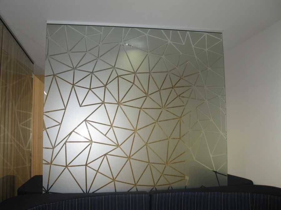Custom Design Frosted Vinyl Applied To Glass Via Http: