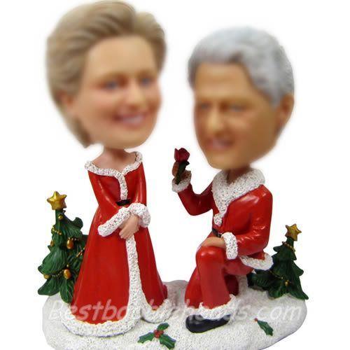 figurines de noël de mariage personnalisées personnalisé