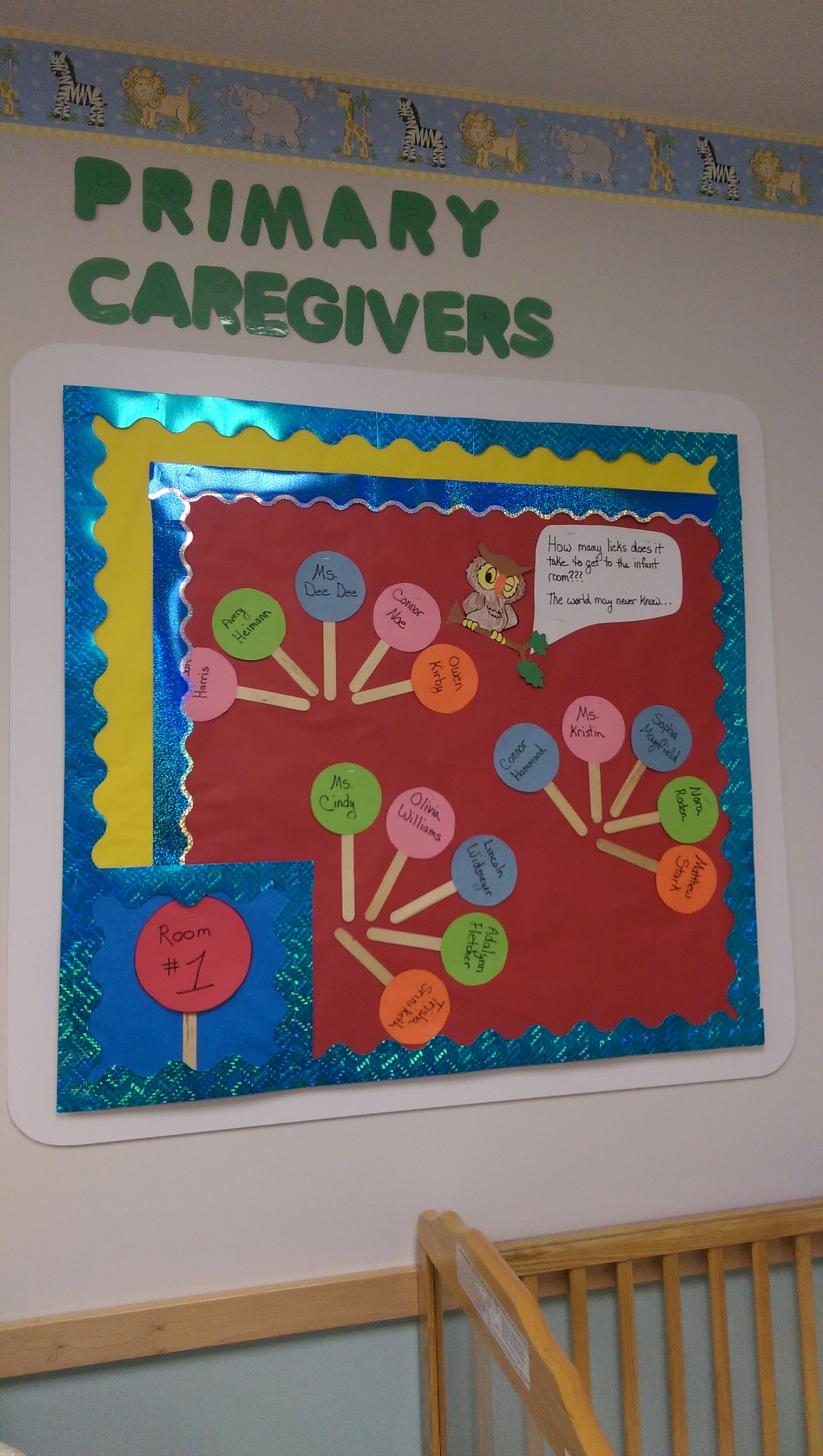 Primary Caregivers Board Quot How Many Licks Does It Take To