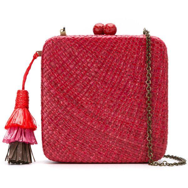 straw clutch - Red Serpui ys5wi