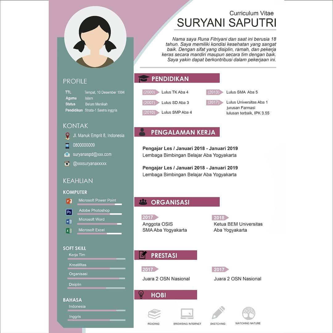 Professional Cv Development Service Are You Looking For Work And Need An Unique Cv Or Application Letter To Hrd We Can Cv Kreatif Desain Resume Desain Cv