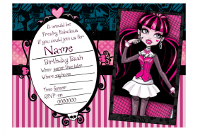 Free printable monster high invitation draculaura mighty delighty free printable monster high invitation draculaura filmwisefo Images