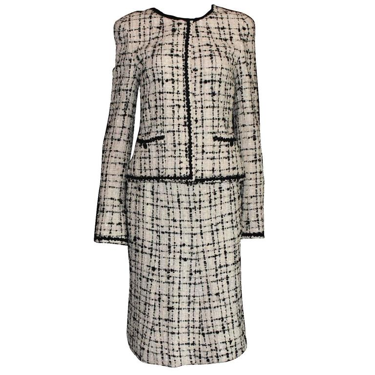 5b4b0d737447 Timeless Chanel Signature Lesage Fantasy Tweed Skirt Suit with Sequins