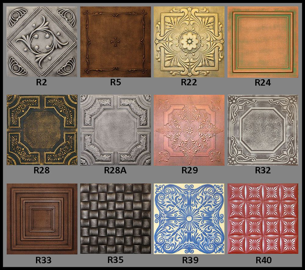 Tin Look Faux Ceiling Tiles 20x20 Diffe Colors