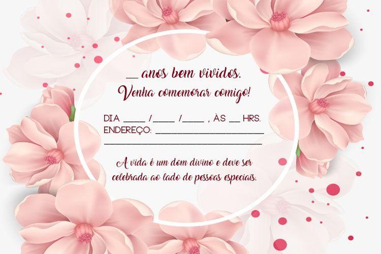 Convite De Aniversário Adulto Modelos De Convite Cellwallpapers
