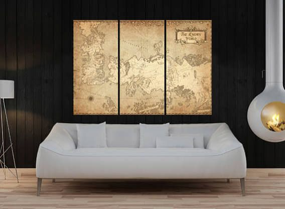 game of thrones map poster framed | Alan Wish List | Pinterest