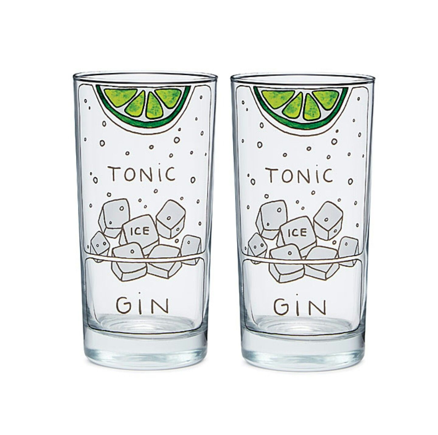 Gin and Tonic Glasses by Alyson Thomas