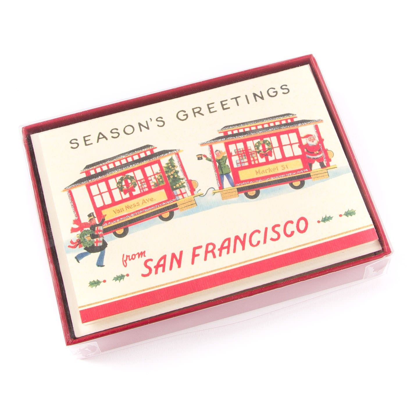 Trolley in San Francisco Boxed Holiday Cards (Set of 10) | Great ...