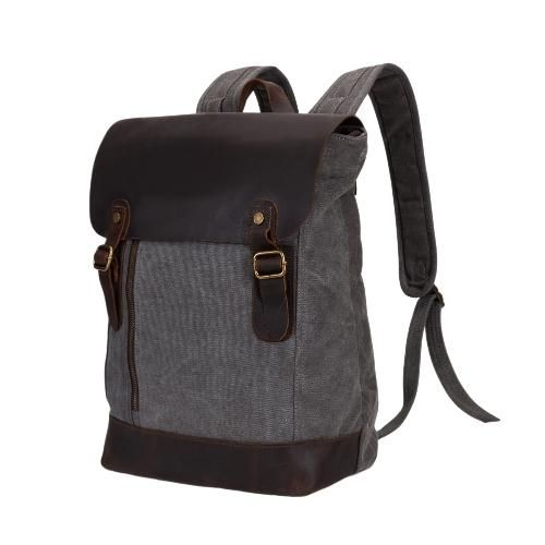 CHICUU - CHICUU Canvas Large Capacity Zipper Backpack Schoolbag - AdoreWe.com