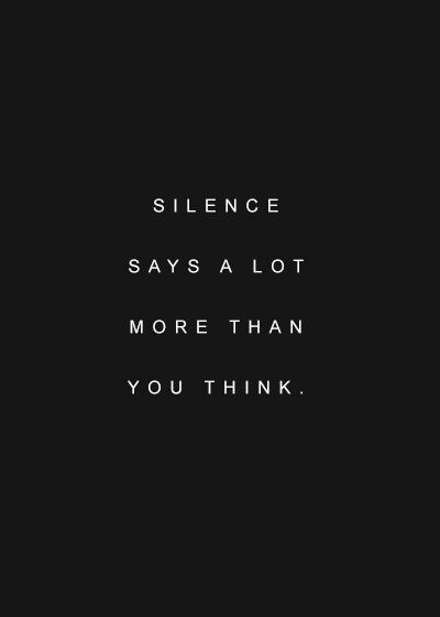 Being silent doesn't mean surrender  | Quotes / Verses