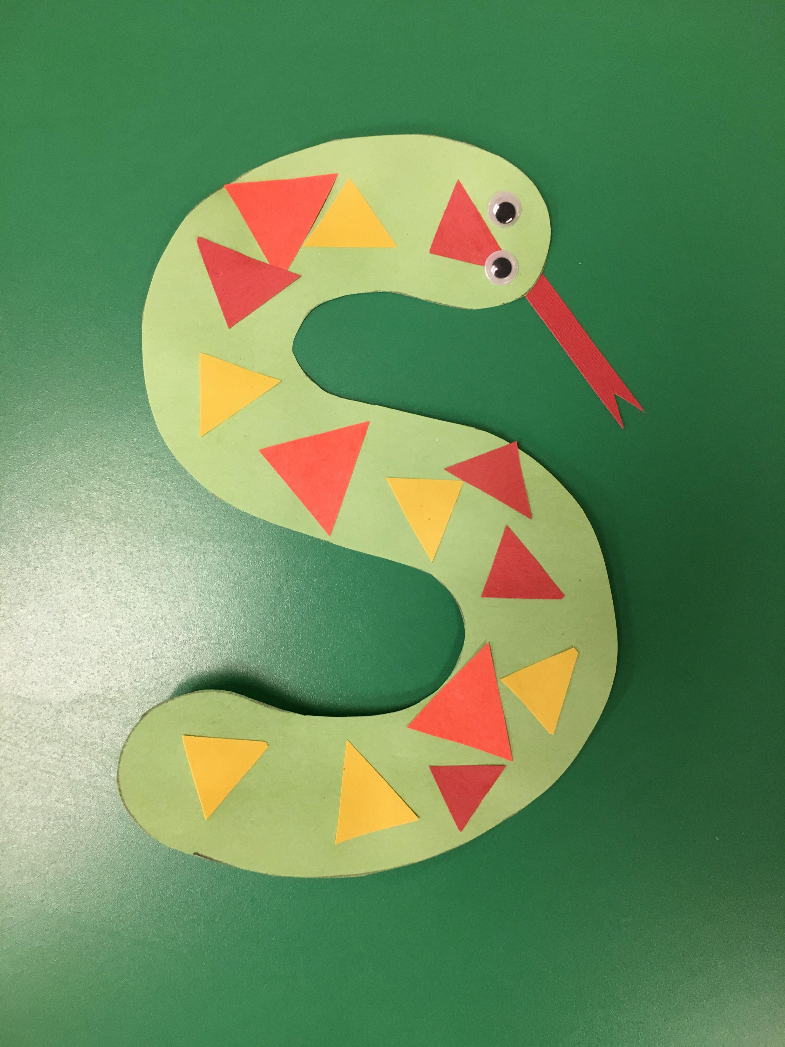 Letter S Craft Snake Preschool