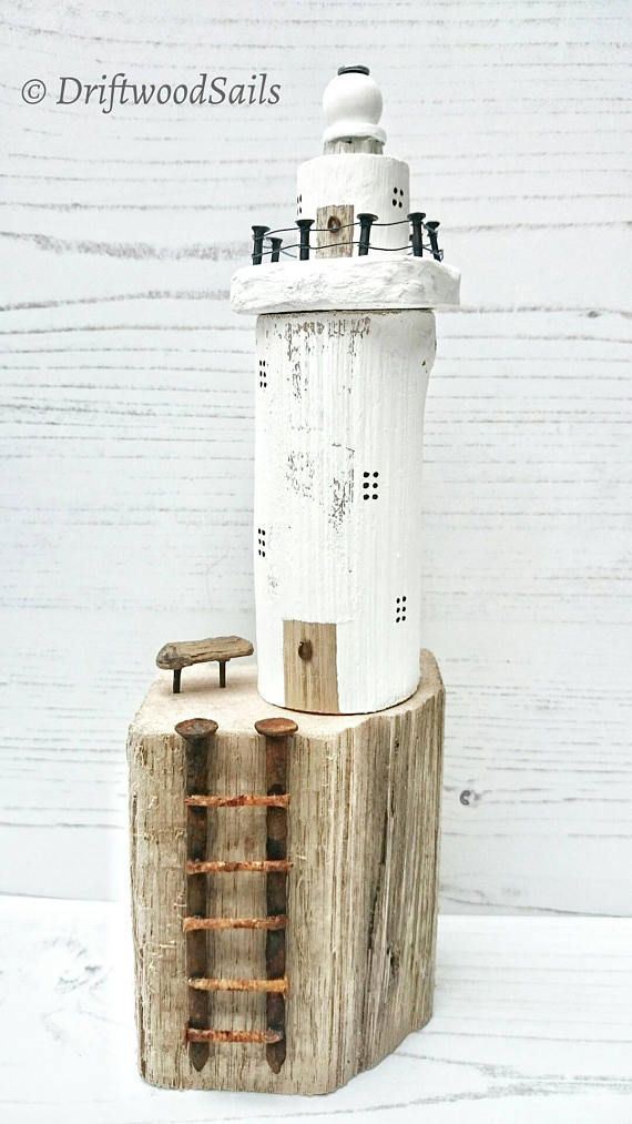 HOUTEN VUURTOREN drijfhout kunst drijfhout zeilen vuurtoren – Stickerei , handwerker und mehr