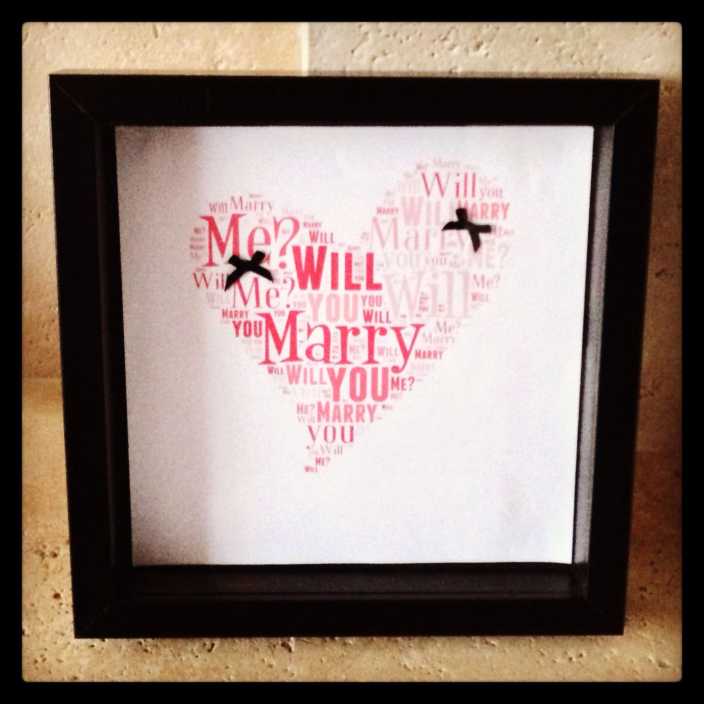 Will You Marry Me Keepsake Frame Frames Pinterest Frame And