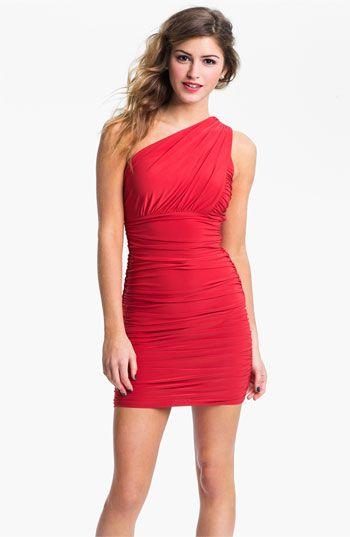 Red Short Dresses for Juniors