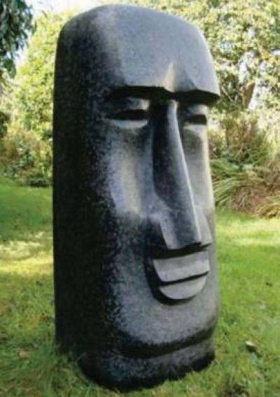 Easter Island Moai Man Head Statue