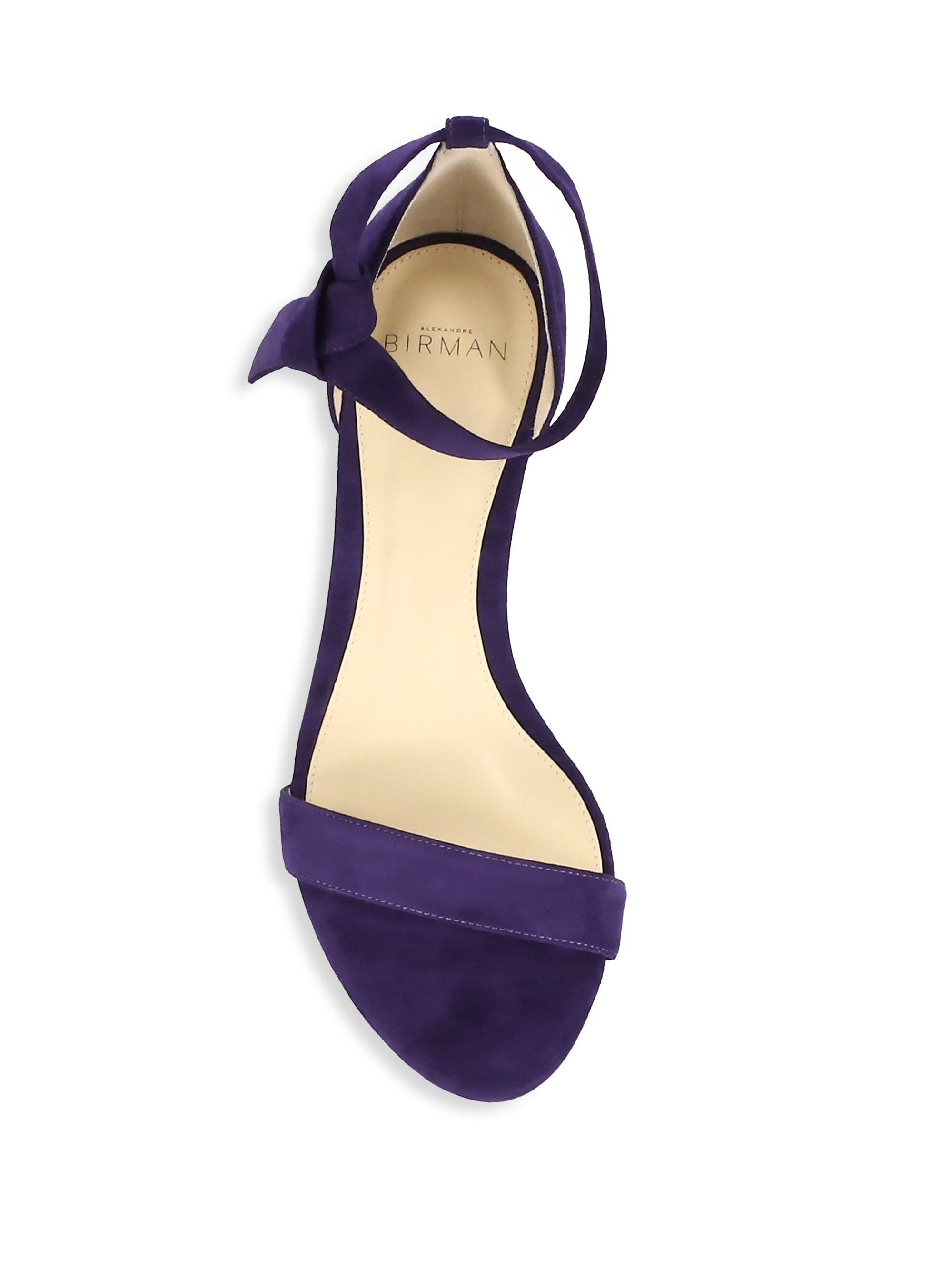 61a6b15d5273 Alexandre Birman Clarita Suede Ankle-Tie Demi-Wedge Sandals - Bali ...