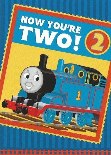 Thomas Now You Re Two Greeting Card Birthday Cards For Friends Happy Birthday Greeting Card Happy Birthday Greetings