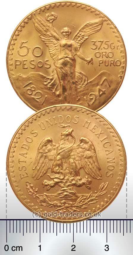 Mexican 50 Pesos Gold Coins Monedas