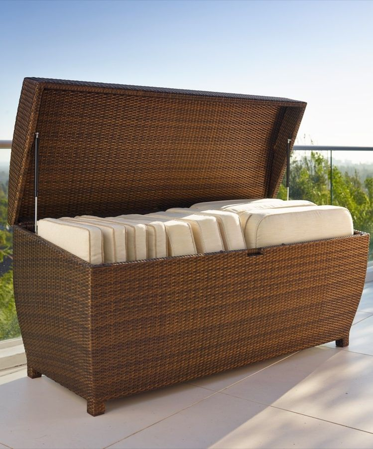 Outdoor Patio Furniture Storage: All-weather Wicker Storage Chest