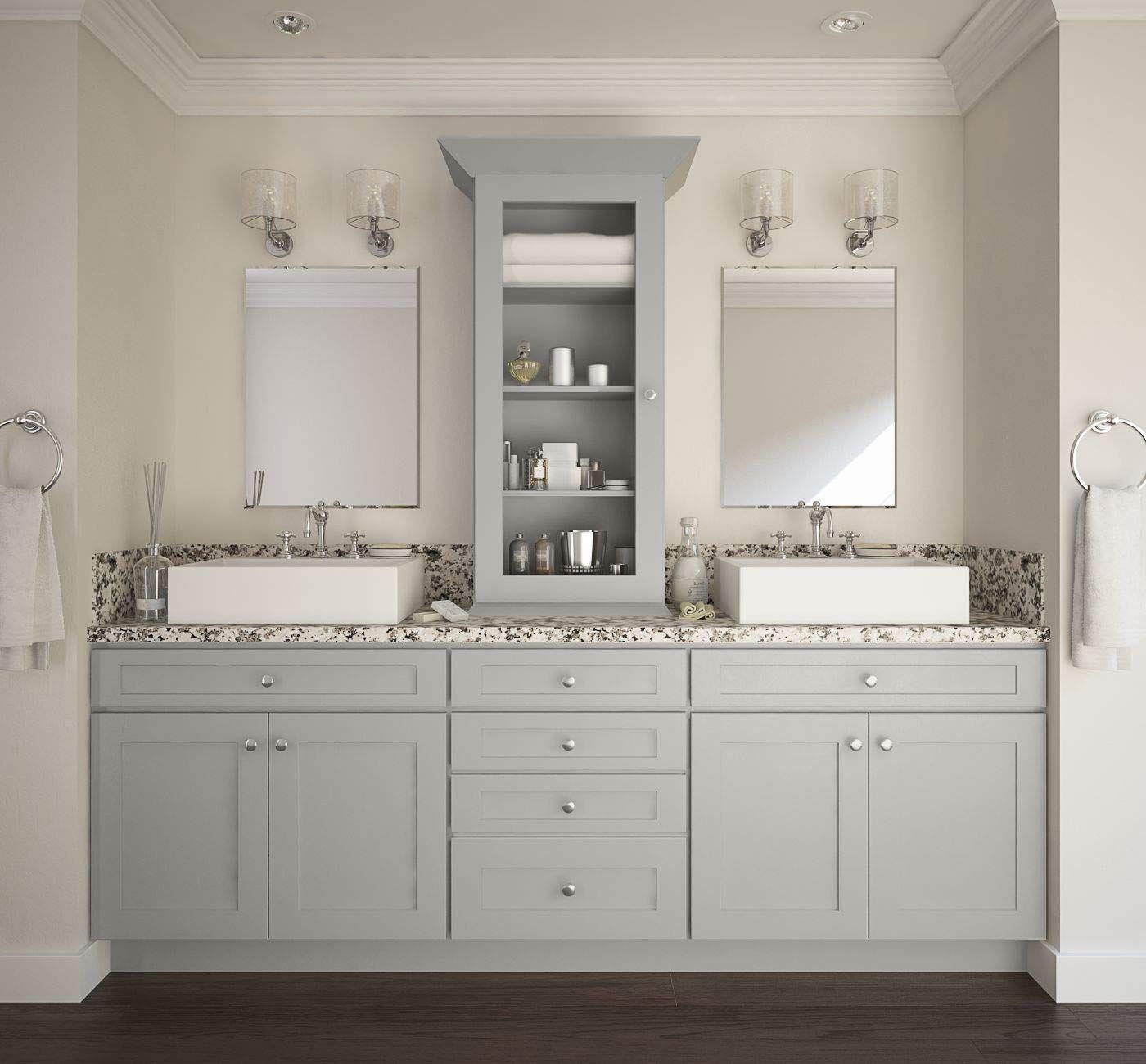 Amazon Com Shaker Dove Light Grey Cabinet Solid Wood Construction
