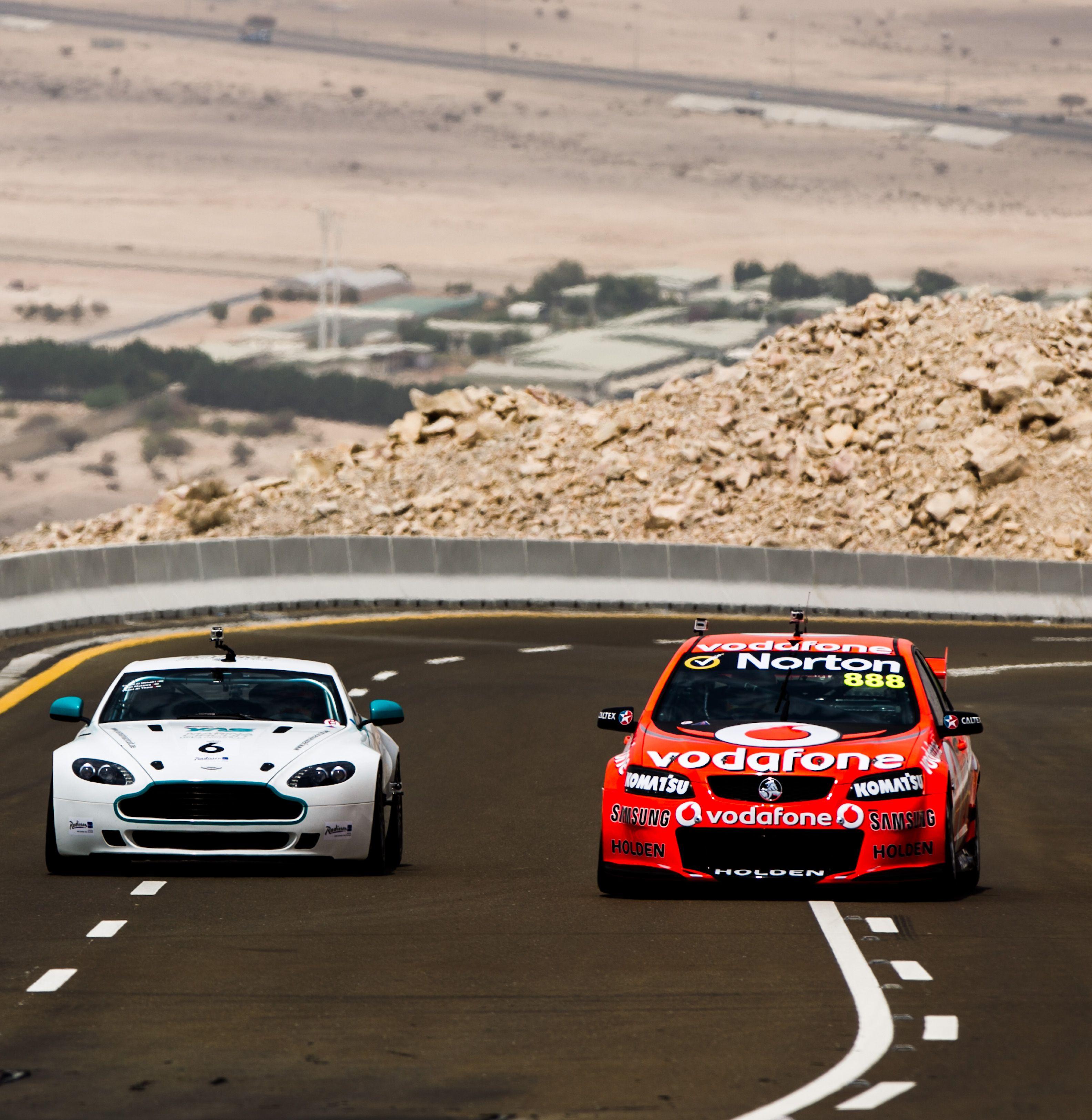 Australian V8 Supercar Races Yas Marina Circuit S Aston Martin Gt4 In The Desert Outside Abu Dhabi Uae Racing Super Cars V8 Supercars Australia