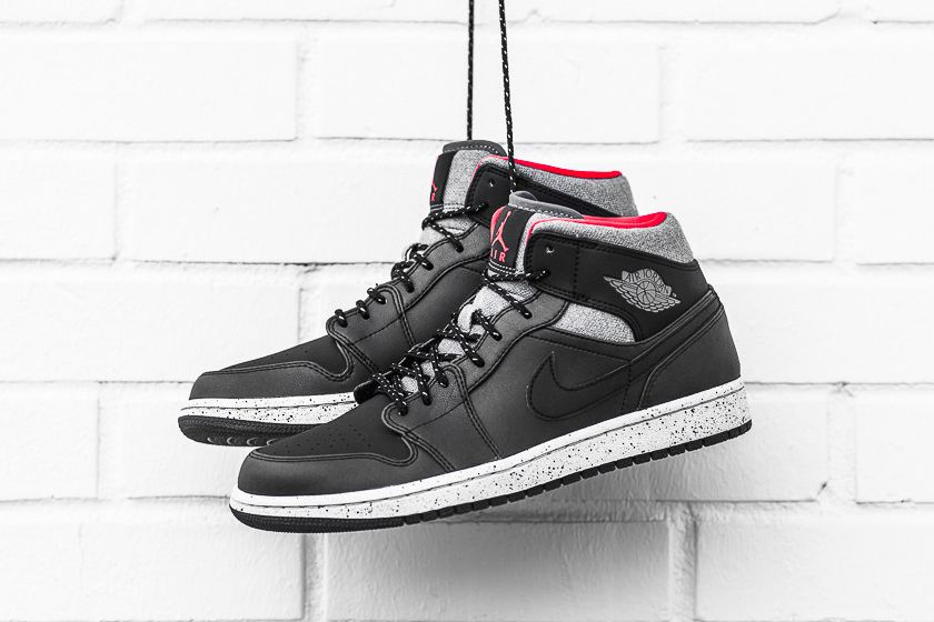 35b29a89218 Air Jordan 1 Mid Black Dark Grey Infrared 23