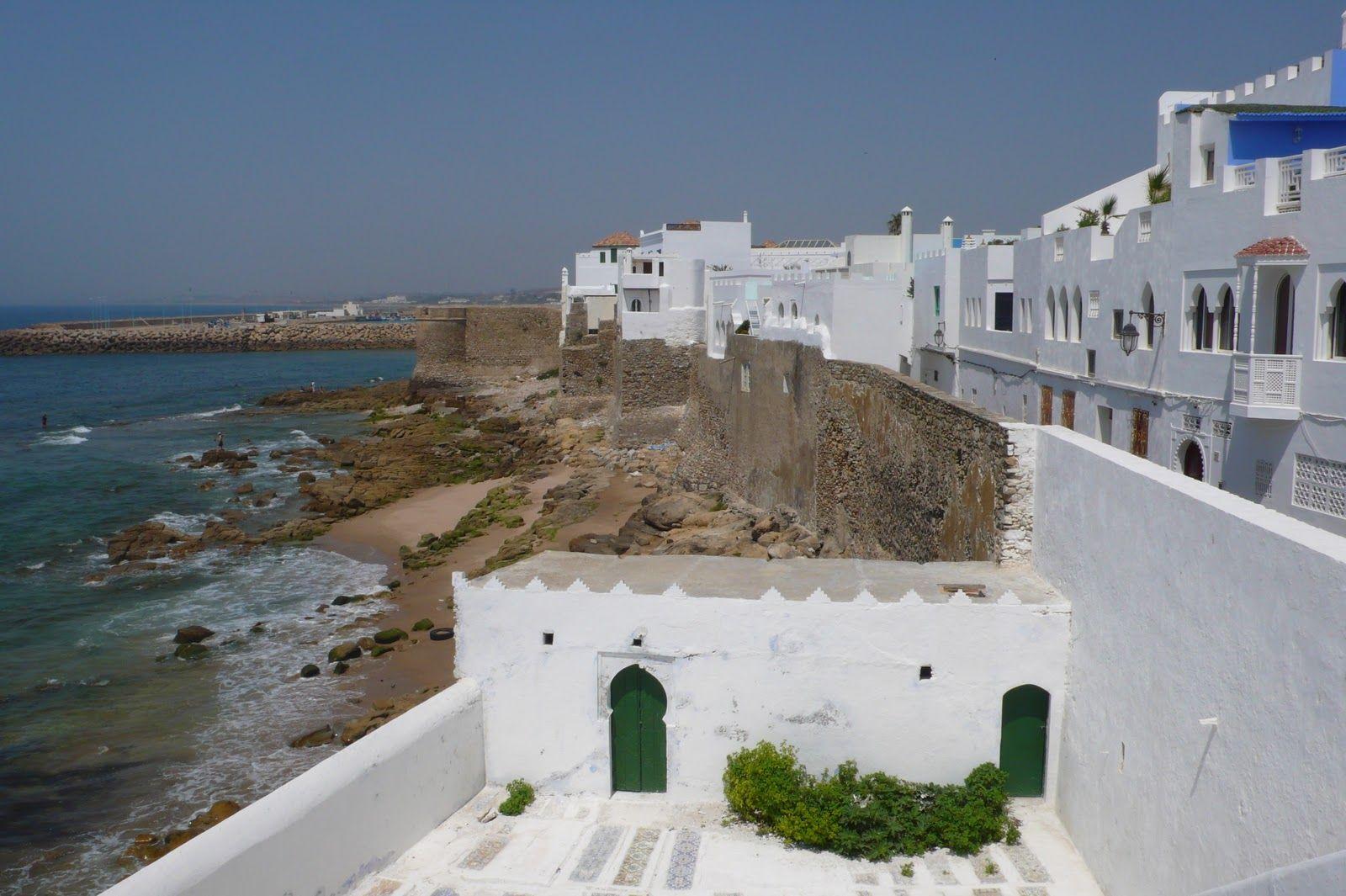 """Vue sur Asilah/Maroc et l'océon du """"Borj al-Bahr"""""""