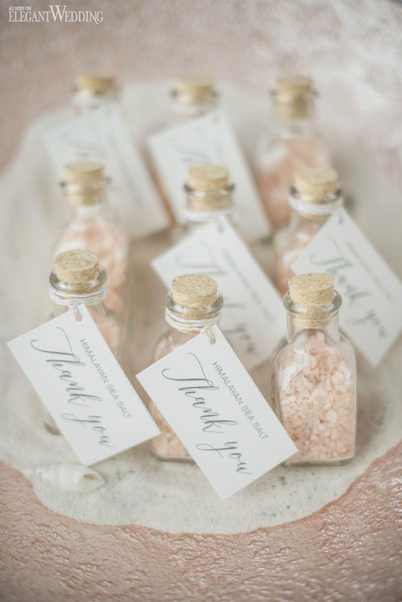 Seaside Wedding Inspiration | Himalayan sea salt, Favors and Wedding ...
