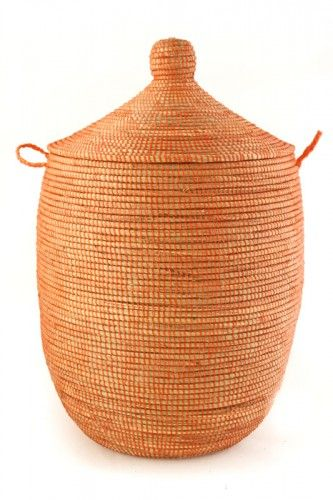 Tangerine Dream Woven Laundry Basket Brightbaskets Fairtradebaskets Africanbaskets Http Laundryshoppe Com