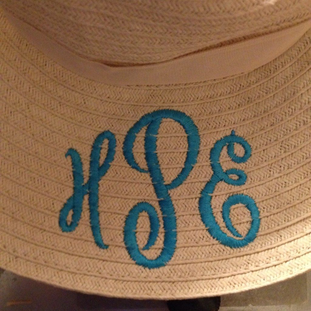 I Had My Straw Hat About A Year Before I Actually Monogrammed It (it's