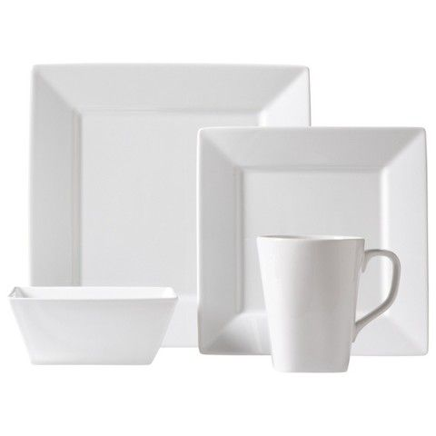 Threshold™ Square Rim 16 Piece Dinnerware Set - White Love these! Love that they are modern with the square design but still the classic white.  sc 1 st  Pinterest : white square dinnerware sets for 12 - pezcame.com