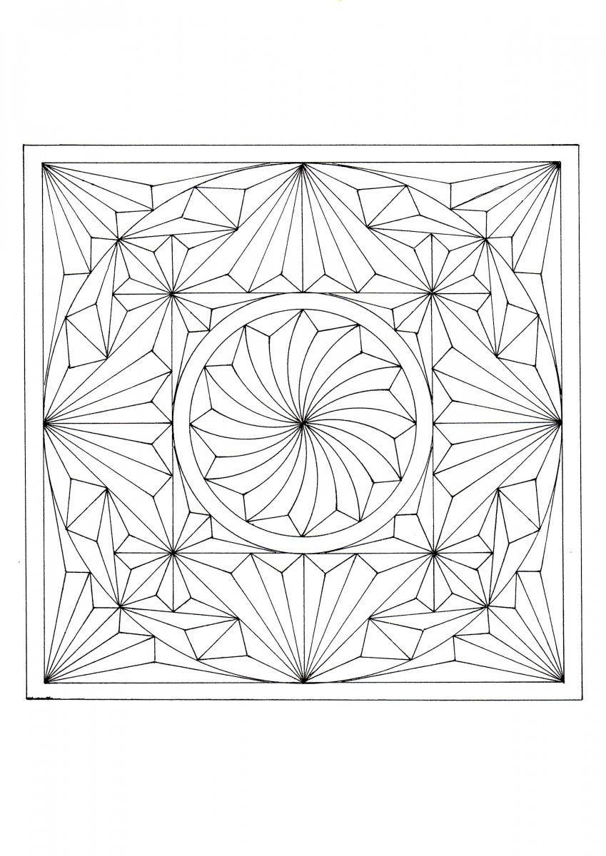 Геометрические картинки для резьбы по дереву