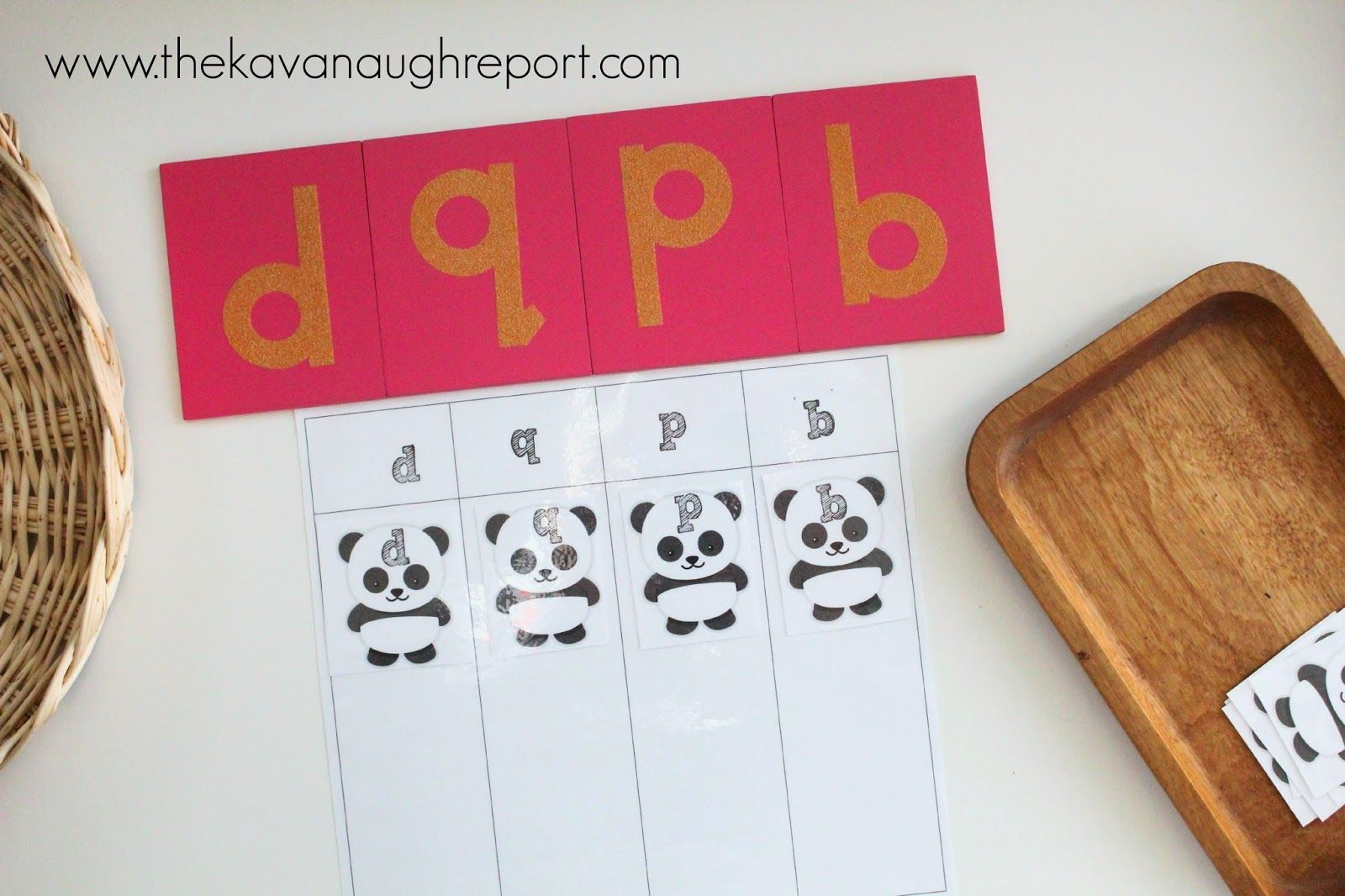 Letter Sorting P D Q B In Montessori Tot School