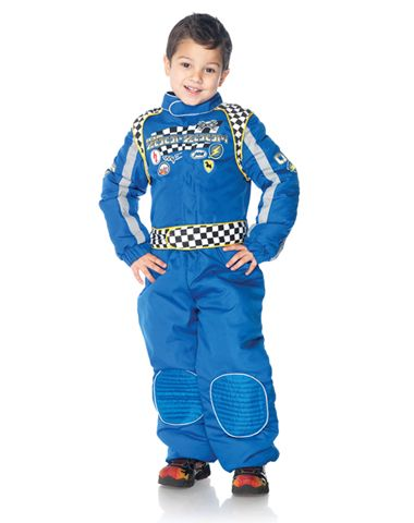 race car driver boys costume