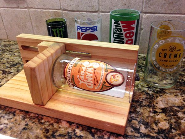 How To Make An Adjustable Glass Bottle Cutter Bottle Crafts Glass Bottle Cutter Bottle Cutter