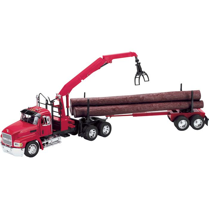 New Ray 13133 1//32 Scale Kenworth W900 Logging Truck Tractor Trailer Model