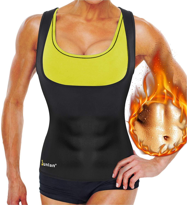 1a27c04984c Junlan Neoprene Waist Trainer Vest for Women Corset Weight Loss Body Shaper  Cincher Sauna Sweat Tank