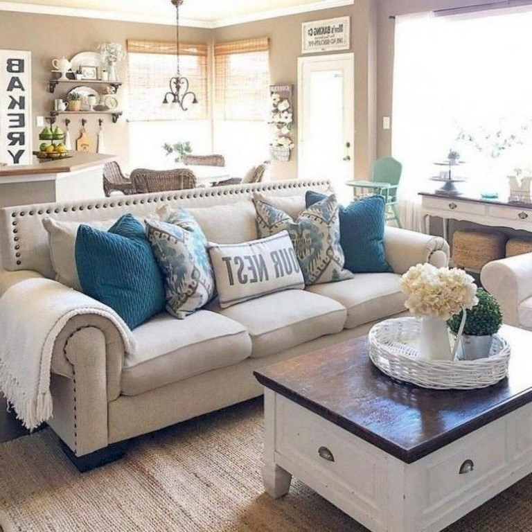 33 Stunning Coastal Living Room Decor Ideas Livingroom Livingroomdecor Livingroomde Farm House Living Room Living Room Design Decor Small Living Room Decor #small #coastal #living #room
