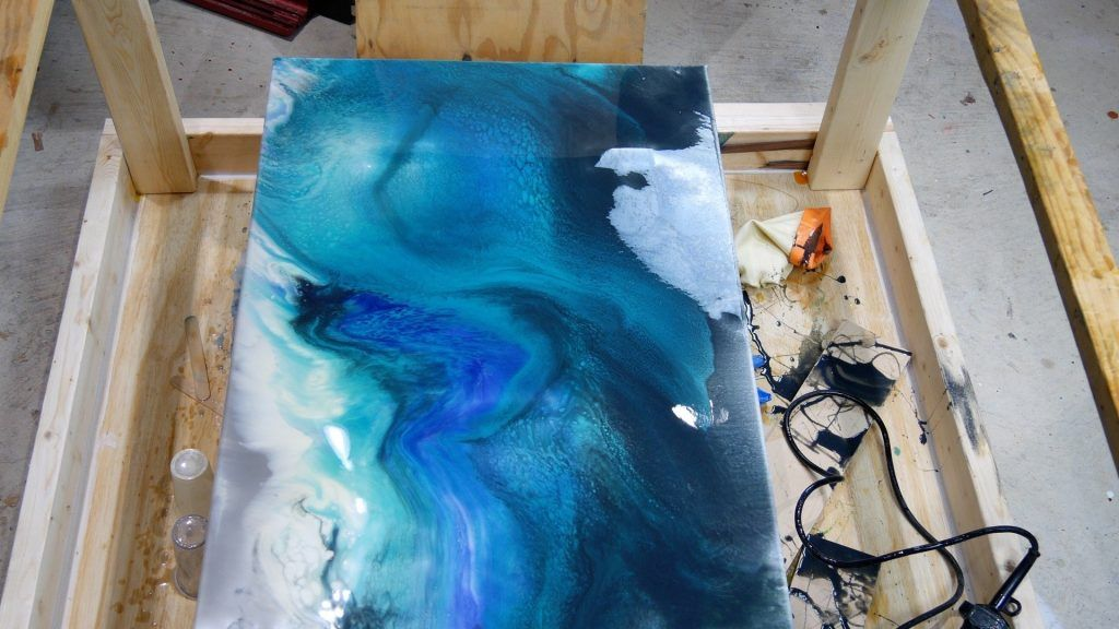 How To Make Resin Canvas Art Step By Step Pahjo Designs Resin Art Canvas Resin Wall Art Resin Art