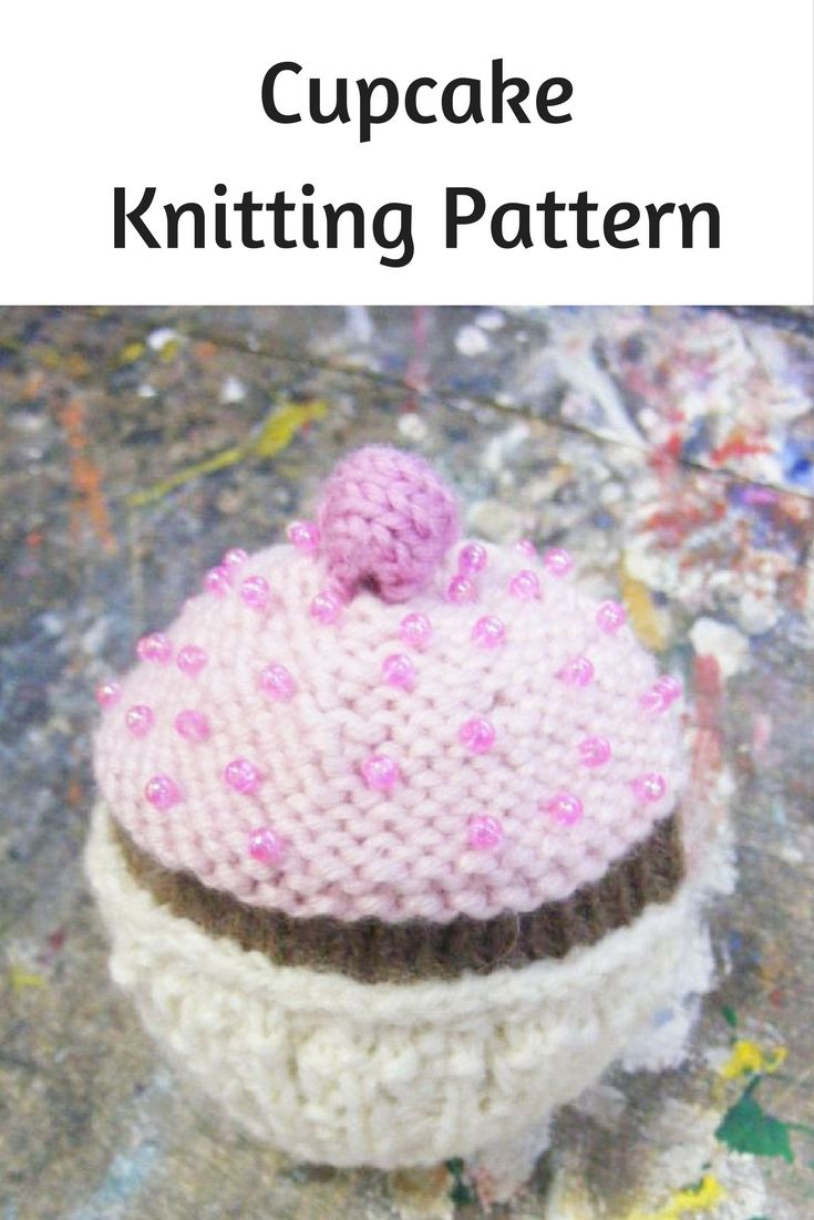 Cupcake knitting pattern free knitting patterns pinterest an easy free pattern for a knitted cupcake a great pattern for a beginner knitting project bankloansurffo Image collections