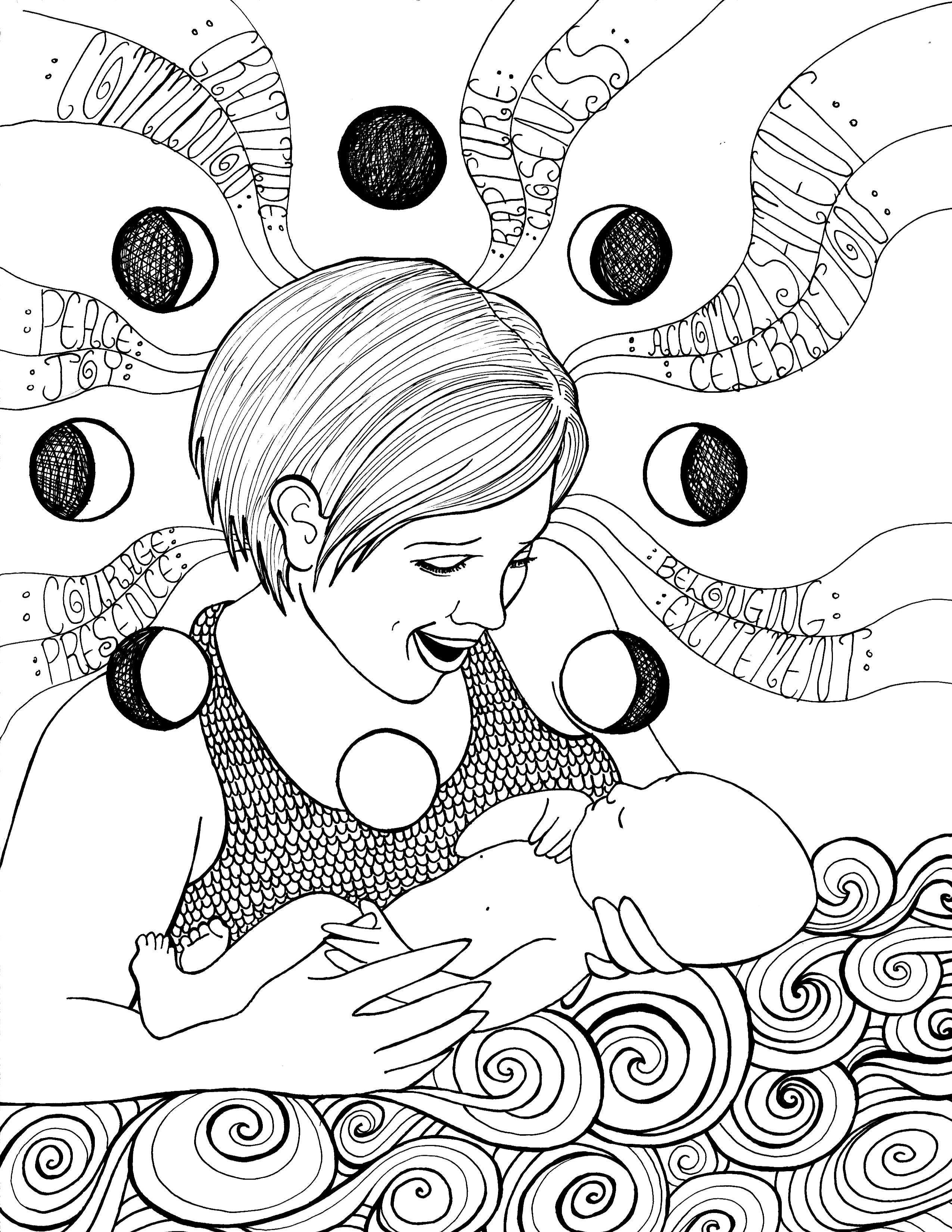 Free Pregnancy Coloring Pages | Pregnancy, Miraculous and Imagination