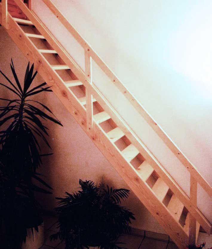 Escalier De Meunier Droit En Sapin Largeur 0 65 Ou 0 70 M