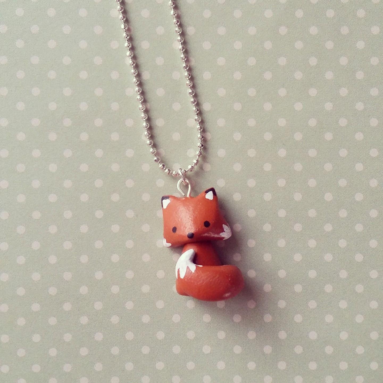 Collier tout petit renard roux