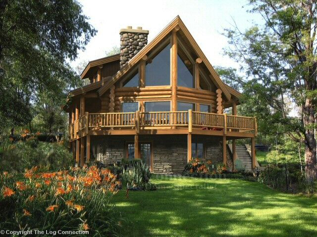 Aspen Log Home Plan | Fairmont Log Home Design By The Log Connection