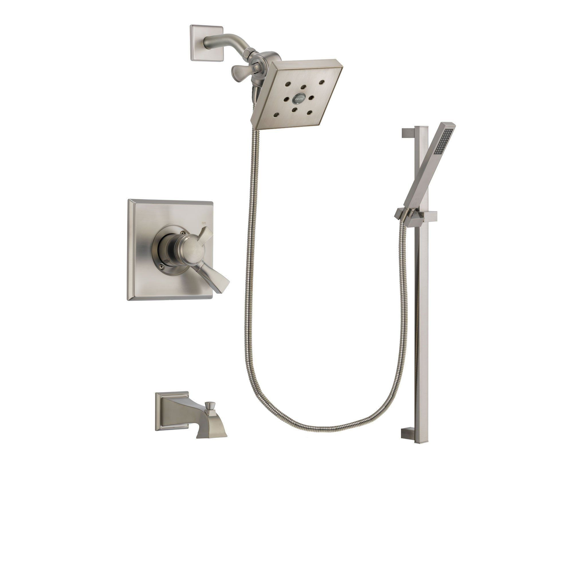 Delta Dryden Stainless Steel Finish Dual Control Tub and Shower ...
